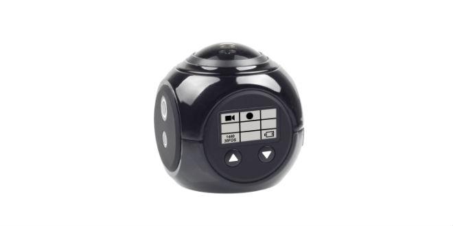TERRATEC 360° Cam für Aufnahmen in 4k / 16 Megapixel, 220° Linse, WiFi und acht Aufnahmemodi