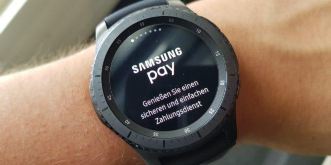 Samsung Pay ab sofort auf der Gear S3 verfügbar