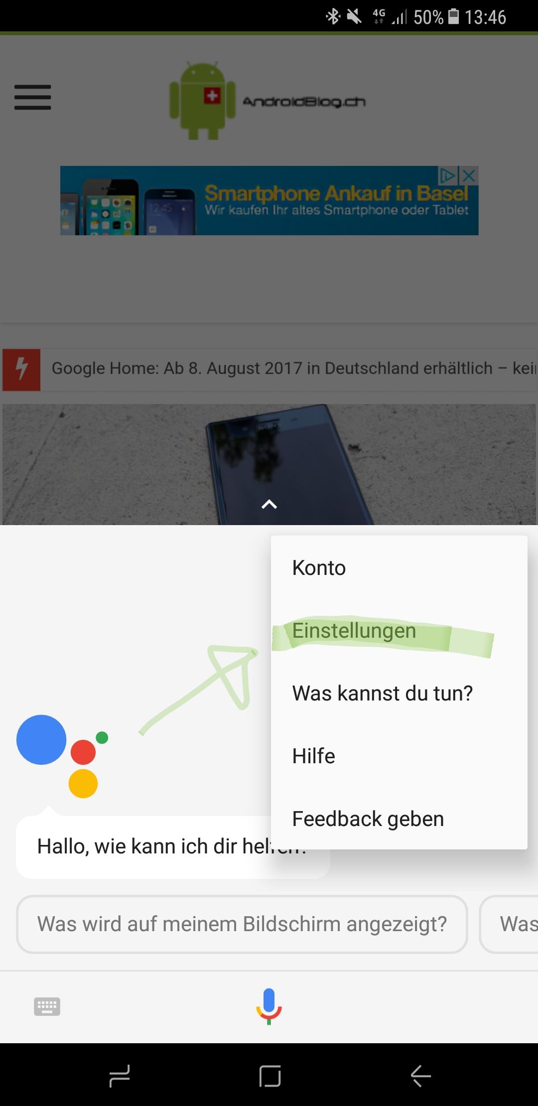 google assistant smart home produkte einrichten so. Black Bedroom Furniture Sets. Home Design Ideas