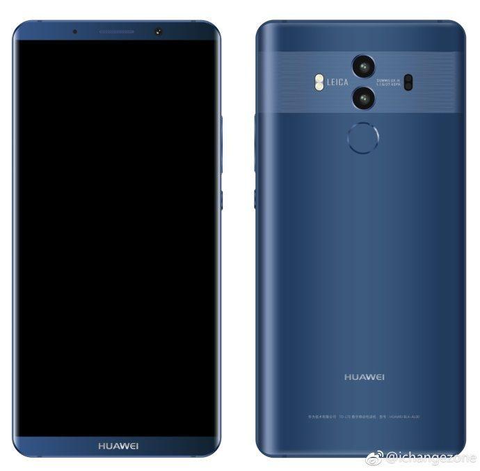 Huawei Mate 10 Pro Zeigt Sich Auf Render Bilder In Schwarz