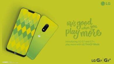LG G7 / G7+ Werbeplakat