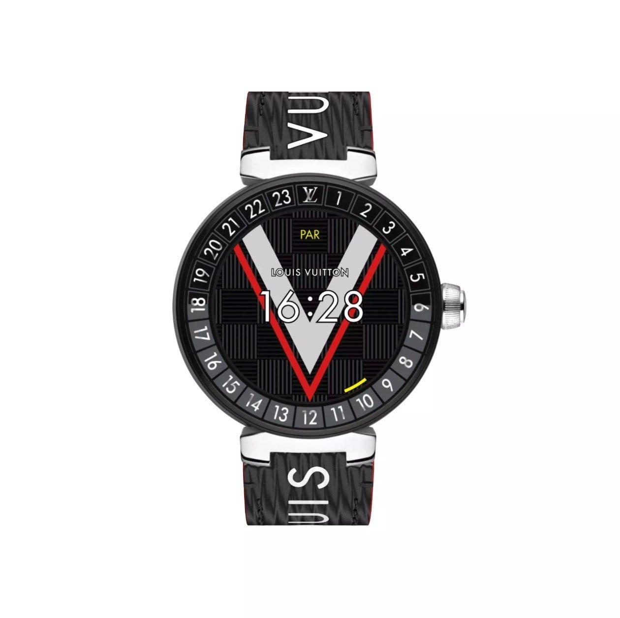 louis vuitton tambour horizon neue wear os smartwatch mit. Black Bedroom Furniture Sets. Home Design Ideas