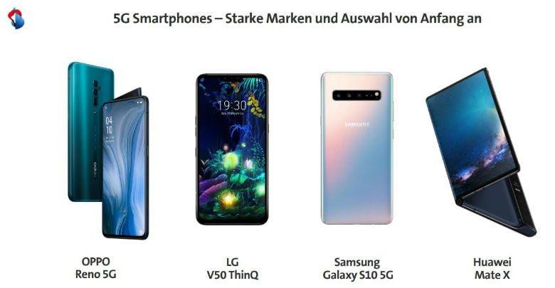 Swisscom 5G-Smartphones