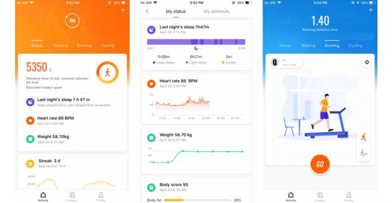 Die neue Mi Fit App in der Version 4.0