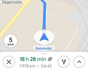 Google Maps neu mit Tachometer