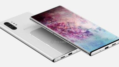 Samsung Galaxy Note 10 Pro als Renderbild
