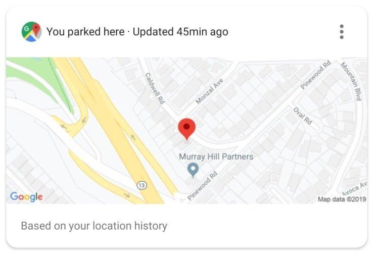 Google Maps zeigt Parkplatz neu automatisch an