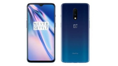 Das OnePlus 7 in Mirror Blue